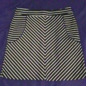 Women's SANDRO STUDIO Black & White Striped Skirt